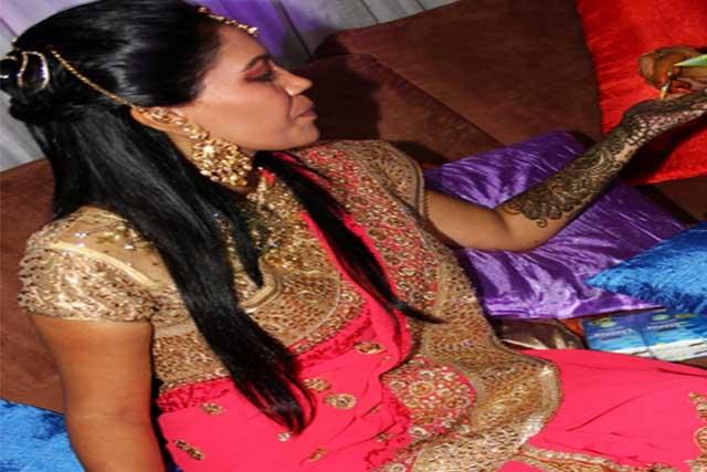 Bride on her Mehndi Night