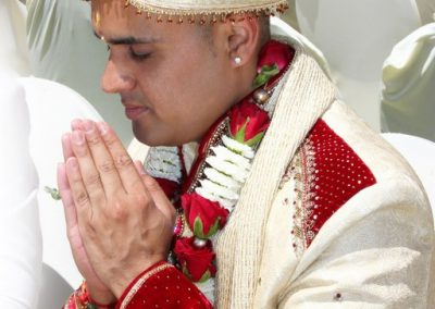 Indian Groom Praying Handsilvercloud