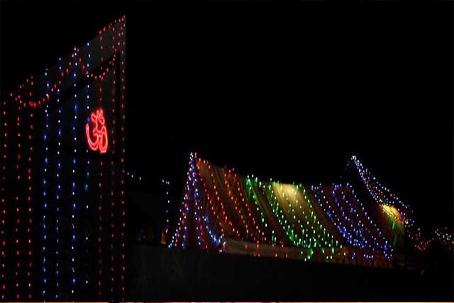 The wedding house on Mehndi Night_Fairy Lights Decor