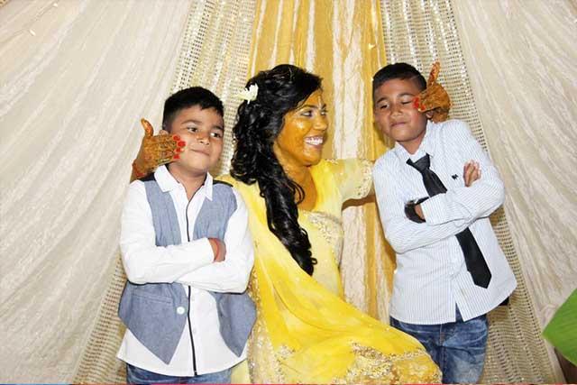 kids at the mehndi night